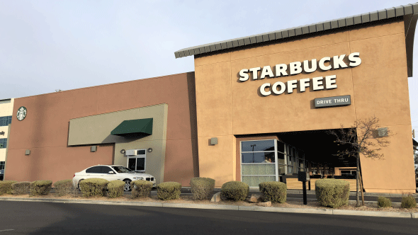 A Starbucks in Southern Nevada is shown on Jan. 16, 2018. (Source: LVACS)