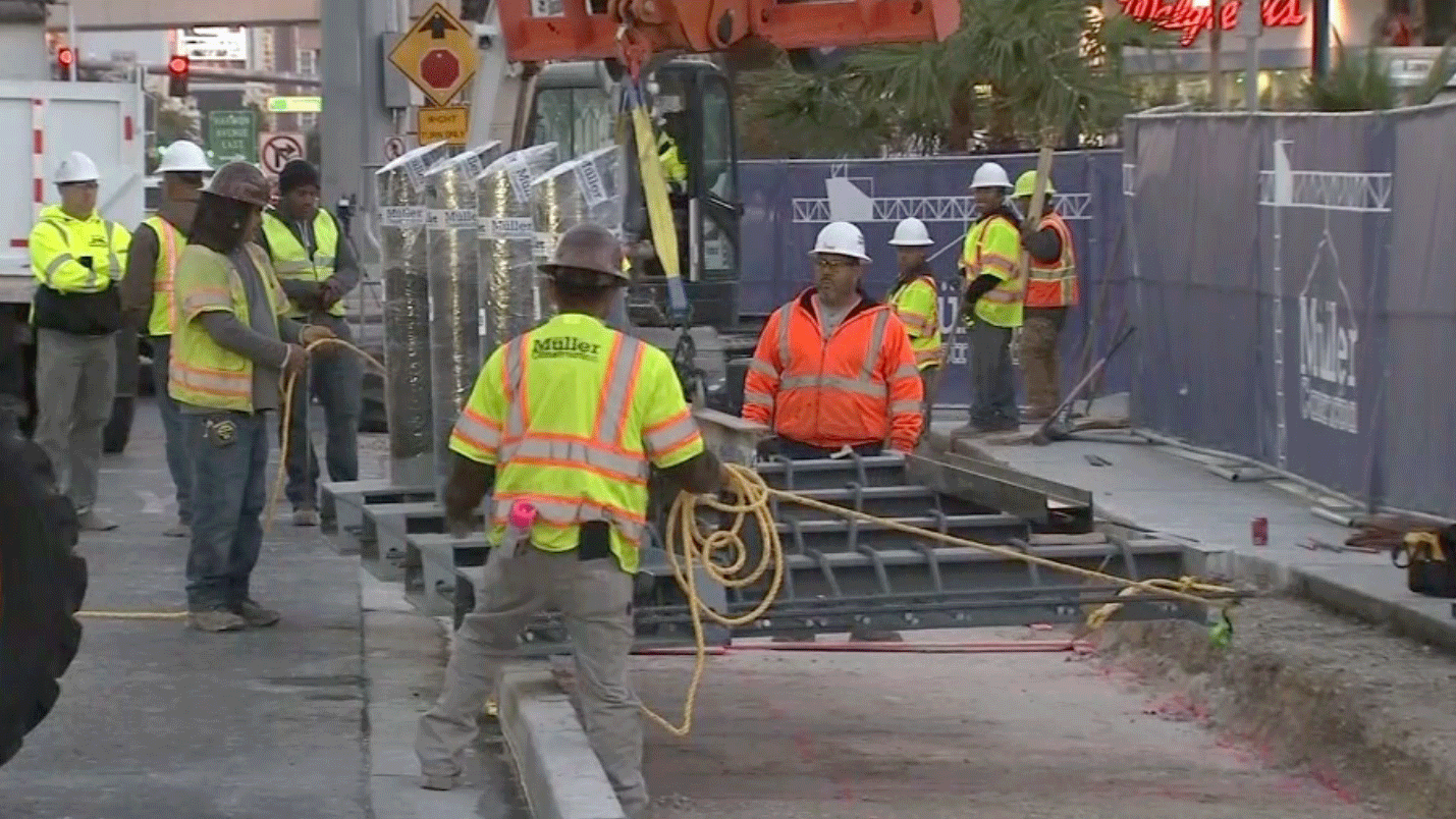 The installation of more bollards was delayed due to a pay dispute. (FOX5)