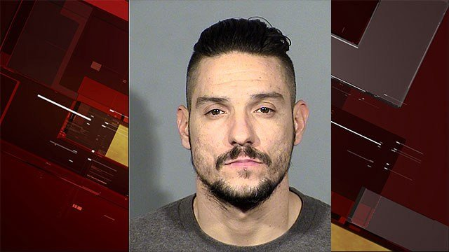 Michael Thompson, 32, was booked into CCDC on two counts of murder with a deadly weapon (FOX5).