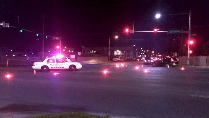 North Las Vegas police investigate a deadly crash on Jan. 18, 2018. (Source: Jimenez Melody/Facebook)