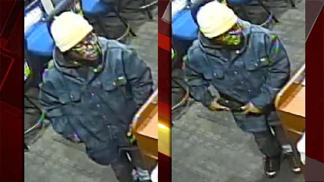 Las Vegas Metro police said they are looking for a suspected robber. (Source: LVMPD)