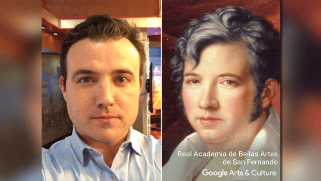 Sam Argier found his art doppelganger. (Source: Google)