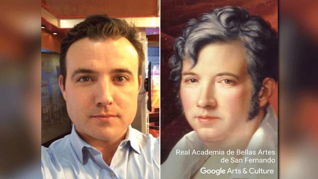 Sam Argier found his art doppelganger. (Source: Google)