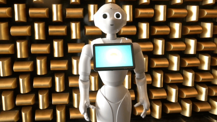 Pepper the robot was fired from work in Scotland but is still employed in Las Vegas.  (FILE)