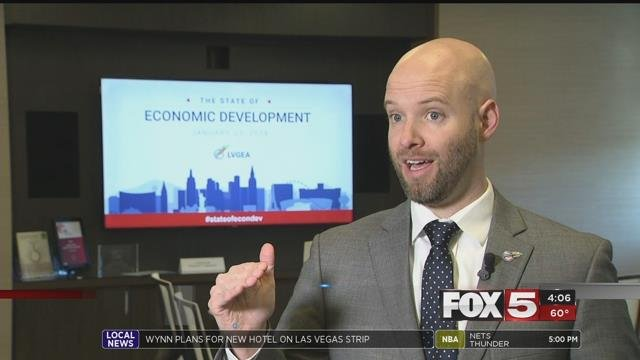 Ceo Jonas Peterson discusses Las Vegas' economic growth (FOX5).