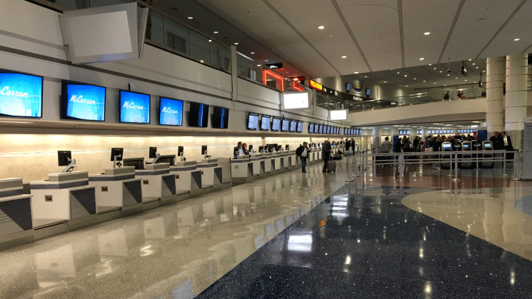 McCarran celebrated the completion of improvements to Terminal 1 to accommodate the growing number of passengers. (Jason Westerhaus/FOX5)