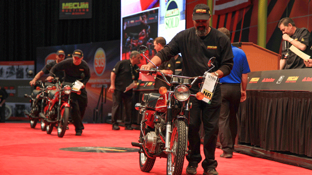 Motorcycles are shown at the Mecum Motorcycle Auction on Jan. 24, 2018. (Source: Gai Phanalasy/FOX5)