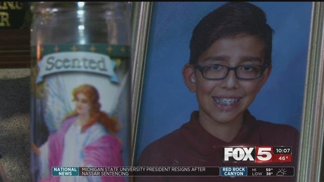Carlo Occhipinti, 12, died from the flu just days before his birthday (FOX5).
