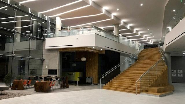 The interior of the new hospitality hall at UNLV on Jan. 25, 2018. (Brad Boyer/FOX5)