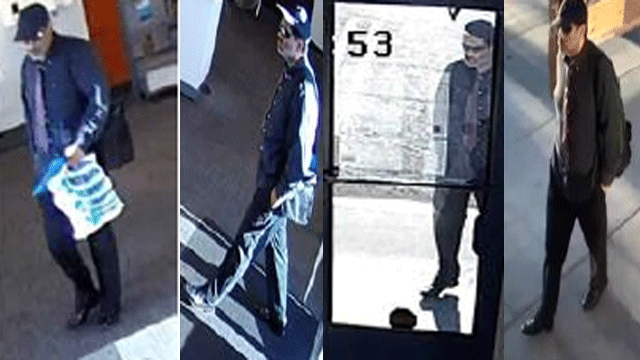 Las Vegas Metro police said they are looking for a well-dressed robbery suspect. (Source: LVMPD)