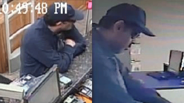 Police released surveillance images of a robbery suspect. (Source: LVMPD)