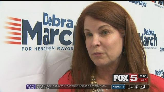 Henderson Mayor Debra March was investigated for a possible ethics violation.