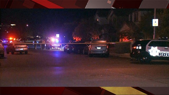 A Las Vegas Metropolitan Police officer was involved in a shooting that left a suspect dead near Giles St. and Barbara Lane in Las Vegas. Jan. 26, 2018 (Photo: Luis Marquez/FOX5)