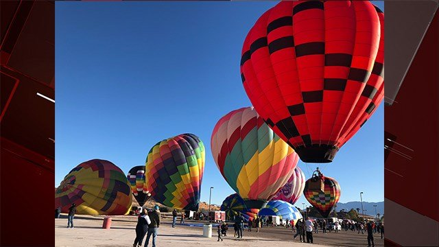 The annual Hot Air Balloon Festival kicked off in Mesquite, NV Friday, Jan. 26 (Photo: Dylan Kendrick/FOX5)