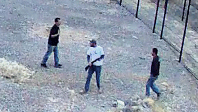 A security camera photo shows the three suspects at Death Valley. (Source: Death Valley National Park)