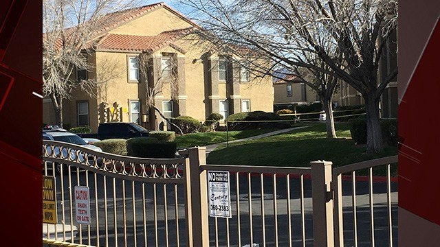 A mother and daughter were shot and a stepfather was arrested in a violent domestic situation near Silverado Ranch Boulevard and Eastern Avenue Saturday, according to Metro Police.(Kurt Rempe / FOX5)