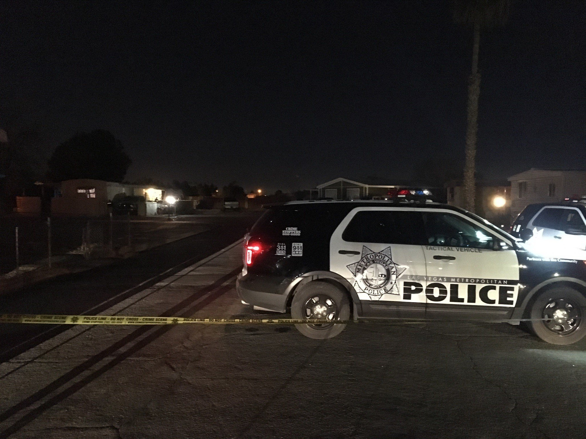 A man was shot and killed in northeast Las Vegas Saturday night, according to Metro Police. (Kurt Rempe / FOX5)
