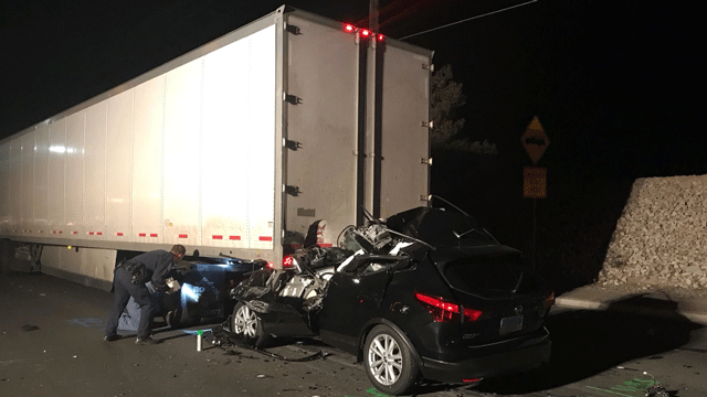 Police said one person is dead after a crash on Jan. 28, 2018. (Source: NLVPD)