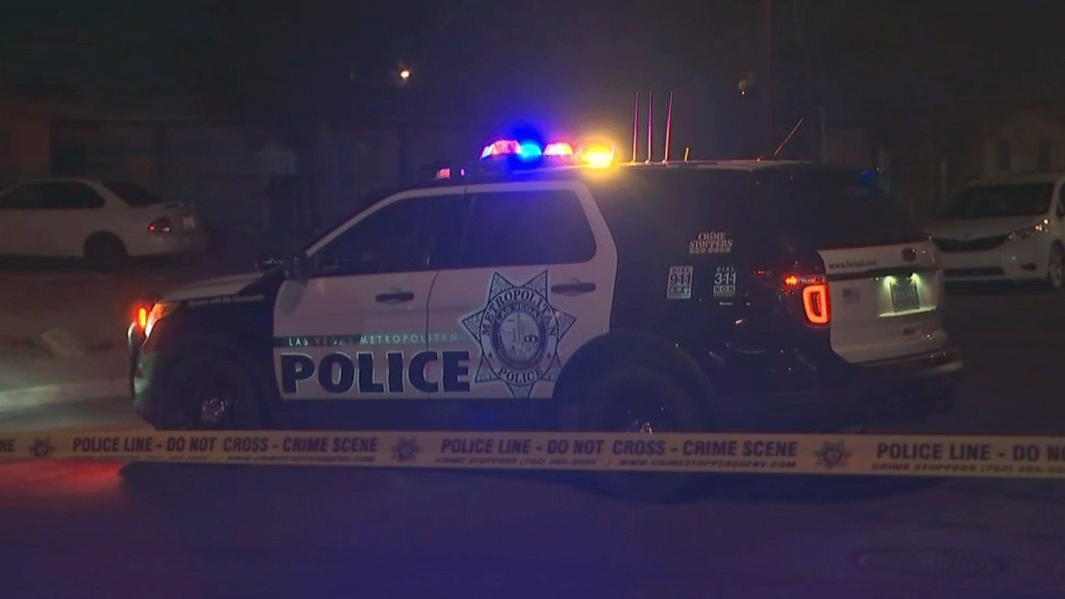 Police investigate a homicide near Craig Road and Lamb Boulevard on Jan. 29, 2018. (Brad Boyer/FOX5)