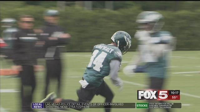 The Super Bowl-bound Eagles running back is a North Las Vegas hometown hero.