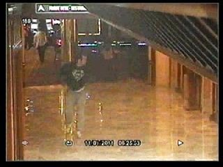 Police released Friday security camera footage of a man in a