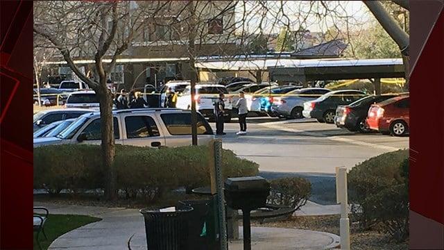 Police investigate double homicide at apartment complex at E. Rome and Pecos in North Las Vegas. Feb. 2, 2018. (Photo: Peter Dawson/ FOX5)