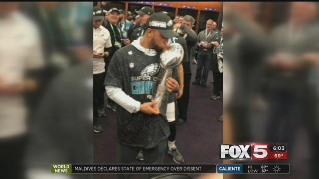 A valley man can now say he was a part of a Super Bowl winning team. Donnel Pumphrey Jr. formerly played for Canyon Springs High School in North Las Vegas.