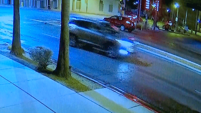 The suspect's vehicle was captured on surveillance video. (Source: LVMPD)