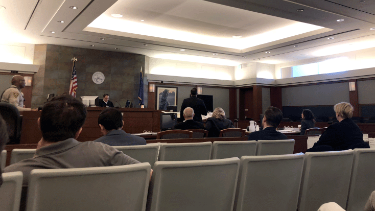 A judge listens to arguments in court on Feb. 7, 2018. (Dylan Kendrick/FOX5)