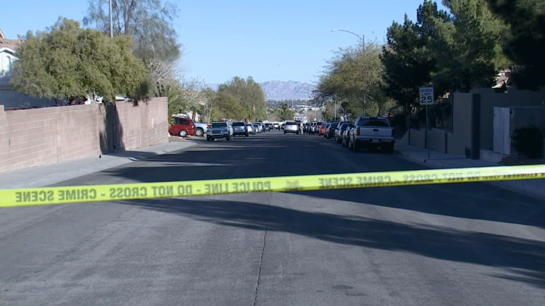Las Vegas police officer taken into custody after standoff