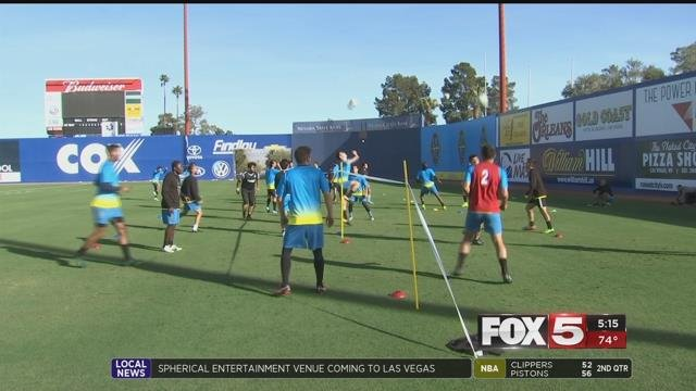 Saturday night the Las Vegas Lights FC will kickoff their inaugural season. (FOX5)