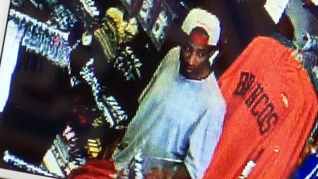 Suspected robbers were captured on camera at a Las Vegas Store. (Source: First & Goal)