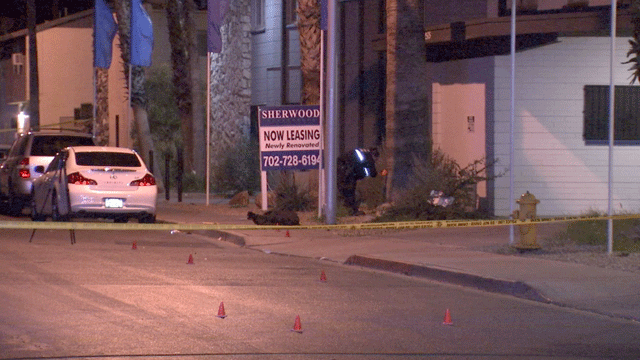 Officers investigate the scene of a deadly shooting. (Luis Marquez/FOX5)