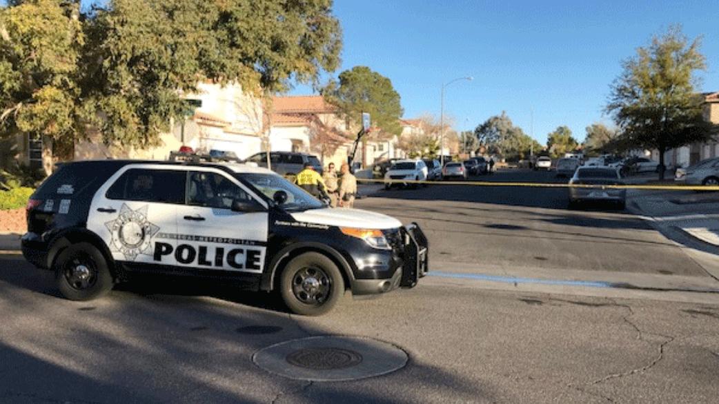 Las Vegas police are investigating a homicide on Feb. 7, 2018. (Brad Boyer/FOX5)