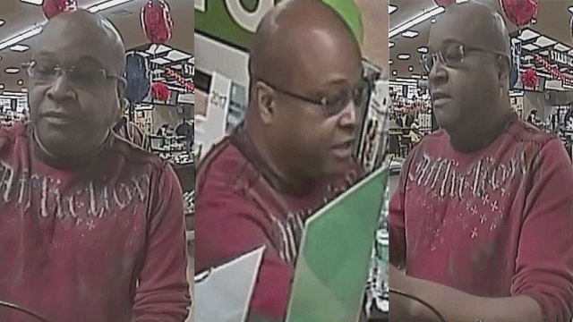 Police released surveillance images of a suspected robber. (Source: HPD)