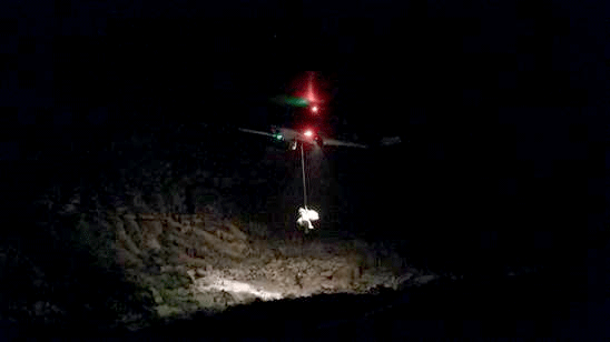 A rescue crew is shown at the site of the crash at the Grand Canyon. (Source: MCSO)