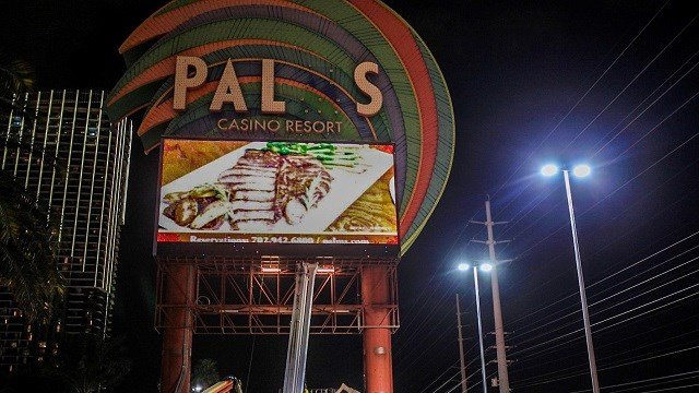 The Palms sign is seen on Feb. 12, 2018. (Guy Phanalsy/FOX5)