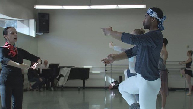 Kenneth Shelby Junior, a classicly trained ballet dancer is seen here during a practice. (FOX5)