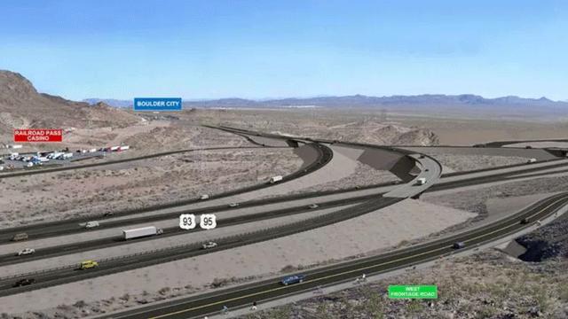 A markup of Interstate 11. (Source: NDOT)