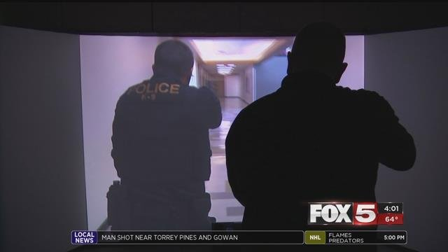 All police departments in the valley have reality based training, but only Henderson Police Department has a 300 degree simulator. (FOX5)