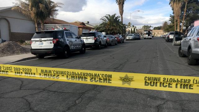 Las Vegas police investigated a homicide on Feb. 19, 2018. (Peter Dawson/FOX5)