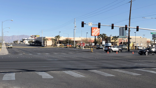 Police block off an intersection after a fatal crash on Feb. 20, 2018. (Dylan Kendrick/FOX5)