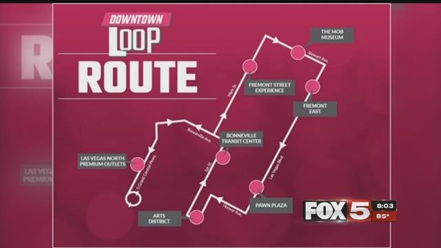 The Downtown Loop route map (CLV / FOX5).
