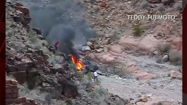 Three people have been killed in a helicopter crash in the Grand Canyon, according to Hualapai Nation police Chief Francis Bradley. (Source: Teddy Fujimoto)