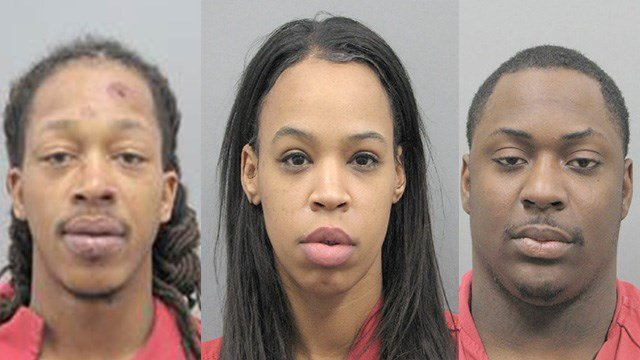 Henderson Police arrested Billy Dee Williams (left), Regla Milagros Gorra (center), Dominique Waynetril Williams (right) in connection to five recent burglaries. (Photo: HPD)