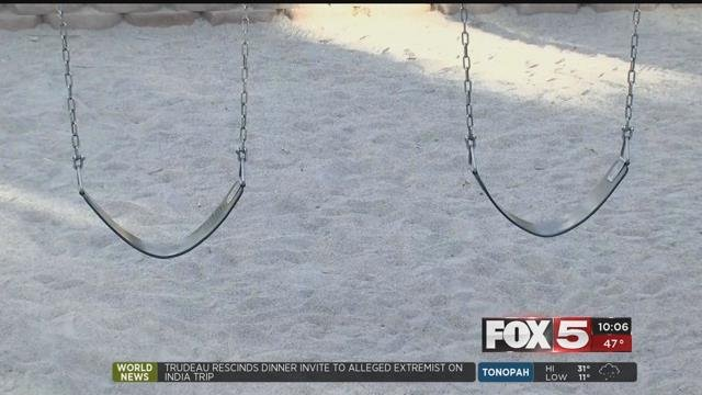 A jury reached a $20 million verdict after a teenager suffered severe brain injuries from a swing set collapsing onhis head at Lamplight Village in northwest Las Vegas. (FOX5)