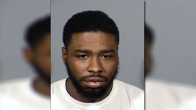 Devlon Royal Scott, 26, faces multiple charges for kidnapping and allegedly pimping a 12-year-old girl (LVMPD / FOX5).
