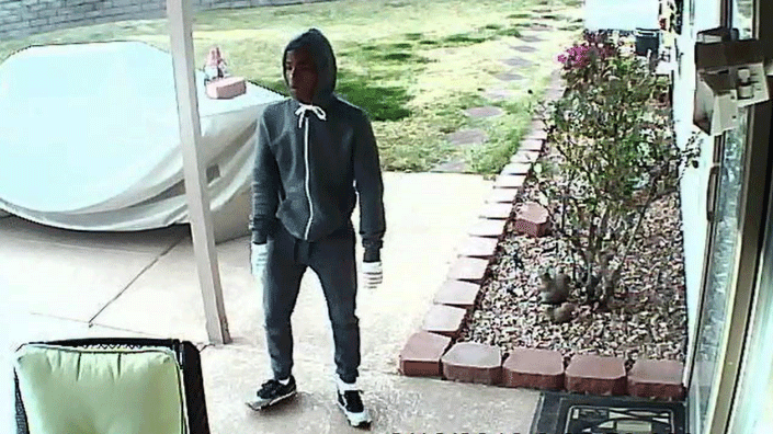 Police released surveillance images of a suspect burglar. (Source: LVMPD)