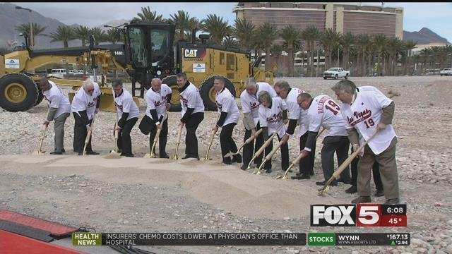 The Las Vegas 51s broke ground on a new Summerlin stadium Friday. (Photo: Robbie Hunt / FOX5)