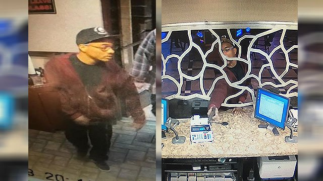LVMPD released surveillance photos of a man who attempted to rob the Ellis Island Casino cage (LVMPD / FOX5).
